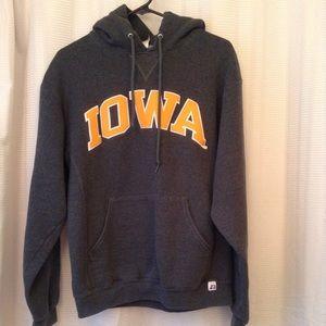 """Iowa"" gray hooded sweatshirt"